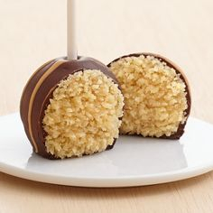 Peanut Butter Cake Pops dipped in Dark and Topped with Peanut Butter Swizzles