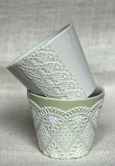 doili, cup, bowl, gift, craft, glass, flower pots, planter, candl
