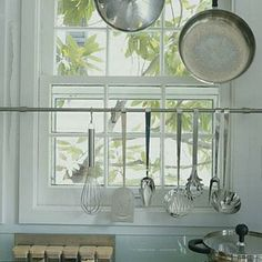 Window Space | You can utilize the space across the window by installing tool rails or shelves. | SouthernLiving.com