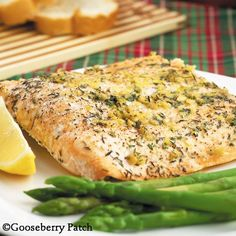 Gooseberry Patch Recipes: Roasted Citrus-Herb Salmon from 101 Christmas Recipes