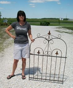 New Arch Topped Wrought Iron Handmade Gate 51  by ARusticGarden