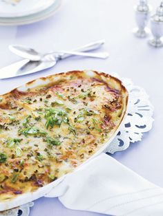 Vegetarian Recipes - Vegetarian Meal Ideas - Good Housekeeping - Scalloped Potatoes with Green Onions