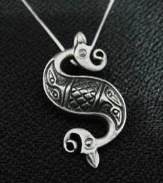 tribal celtic mermaid goddess tail sterling silver 925 Real Sterling silver 925 pendant Charm jewelry  find this item at https://www.etsy.com/shop/princeofdiamonds