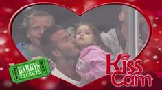 """David Beckham And His Daughter on the kiss cam at LA Kings game. Accompanying video of """"normal"""" people is pretty damn funny."""