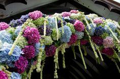idea, hydrangea arch, floral inspir, floral arch, arches for wedding, ceremoni decor, hydrangea wedding flowers, flower arch, hydrangeas