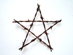 Rustic Christmas Decor Ornament Old Barbed Wire Star -Old Rustic Stars- diy Rustic wedding favors shabby chic wedding decor gift metal star. $15.00, via Etsy.