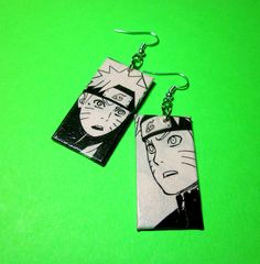 Uzumaki Naruto Earrings Comic Capture Shippuden by Nerdifacts-----you could wear it together or 1 at a time...