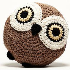 Peanut Butter Dynamite Crochet Acrylic Owl Pillow   Wayfair (no pattern) Owl Pillows, Butter Dynamit, Acrylics, Dynamit Crochet, Homes, Furniture Decor, Peanut Butter, Acryl Owl, Crochet Acryl