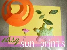 Easy sun prints to bring art with kids outside