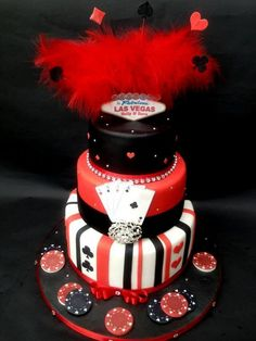 Las Vegas Wedding Cake - Possible grooms cake??