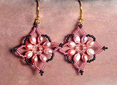 bead magic, free pattern, ear ring, earring pattern, flake, bead earring, beaded earrings, seed beads, robertina earring