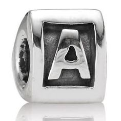 Letter A Charm Sterling Silver