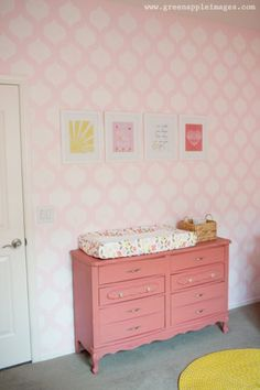 Painted Dressers that give nurseries a pop of color #BabyCenterBlog #ProjectNursery