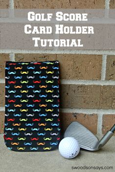 DIY Golf Score Card Tutorial - free PDF pattern download for a quick, easy sewing project. This golf score card holder is just like a store bought one.. only more fun and personalized! Make one for Father's Day! Swoodsonsays.com