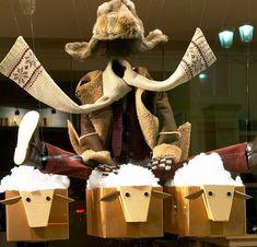 cardboard sheeps! Great window display!