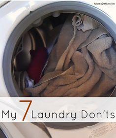 My 7 Laundry Don'ts