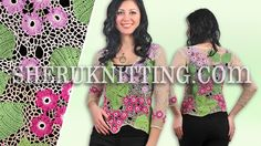 FLORAL IRISH CROCHET BLOUSE  Model 26. http://sheruknitting.com/patterns/item/607-floral-irish-crochet-blouse.html  This crocheted blouse is made of bright colored individual elements: small and large crocheted leaves and flowers that are gathered in one piece of work with chaotic crocheted mesh.