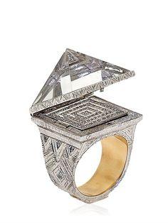 IZNAV ORUAM - KING'S CHAMBER RING - LUISAVIAROMA - LUXURY SHOPPING WORLDWIDE SHIPPING - FLORENCE