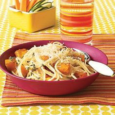 Family Dinner Menus: Spaghetti with Butternut Squash recipe