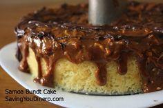 Samoa Bundt Cake - Saving You Dinero