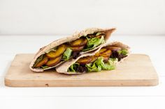 Grilled Golden Beets and Hummus Stuffed Pita
