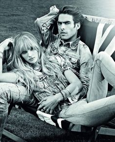Anne Vyalitsyna and Jon Kortajarena by Warren Du Preez for Pepe Jeans Spring 2011 Campaign