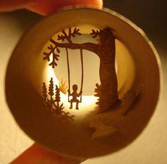 miniatur, silhouett, craft, toilet roll art, toilet paper rolls, toilet paper tubes, cut outs, cardboard tubes, paper roll art