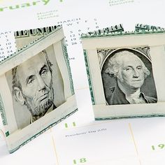 DIY gift - In the Money - portrait folds...