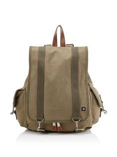 Olive Block Backpack