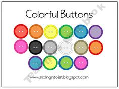 button clipart! rainbow colors, only $1.50!!