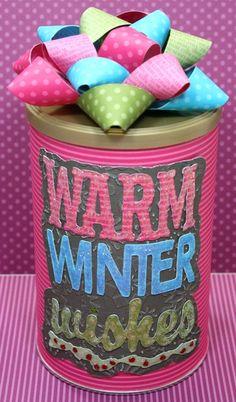 Hot Chocolate gift using Cricut Winter Woodland cartridge