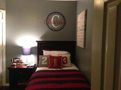 red grayblu, blue, window treatment, boy bedroom, boy rooms, bobbi room, son, red space, kid room