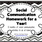 Social Homework for a Year - only $5 on Teachers Pay Teachers.  Looks like a great resource!