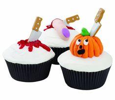 Wilton Halloween Knife Cupcake Icing Decorations
