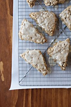 Cinnamon Scones with Maple Glaze