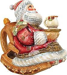 Rocking Chair Santa Teapot