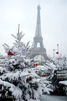 holiday, paris, christmas time, tower, dream, snow, winter wonderland, white christmas, place