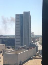 Junkyard fire burns near downtown Atlanta gallery
