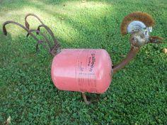 Punk Chicken Rusty Relics Metal Art