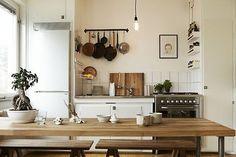 organized kitchen, tiny kitchens, kitchen art, oliv, kitchen spaces, farmhouse kitchens