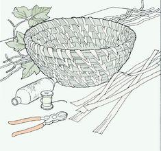 How to make a pine needle basket