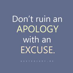 please, people~ Apology, no excuses