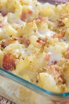 Grown Up Mac and Cheese Recipe with Bacon and 3 Cheeses - Gruyere, Cheddar, and Blue Cheese
