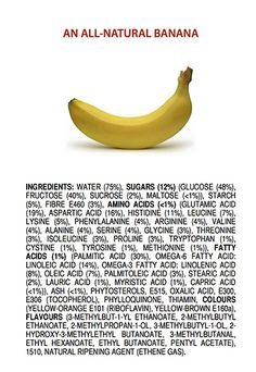 Think a long list of ingredients means a food is unhealthy? This ingredient list for a banana might change your mind. http://www.bestfoodfacts.org/food-for-thought/cant_pronounce_ingredient