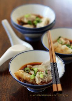 Sichuan Red Oil Wontons (Wontons in Chili Oil)
