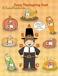 Funny Thanksgiving Food for iPad, Android, or printing.