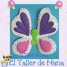 El Taller de Nana: Mariposas en Foamy