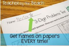 The Teachers' Cauldron: Names on the Papers! Bright Ideas Link Up