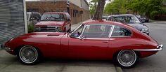 A 1968 Jaguar XKE.  Very 007 in design.  Mamma loves!