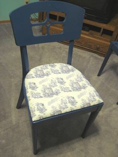 Dr. Who toile chair makeover.